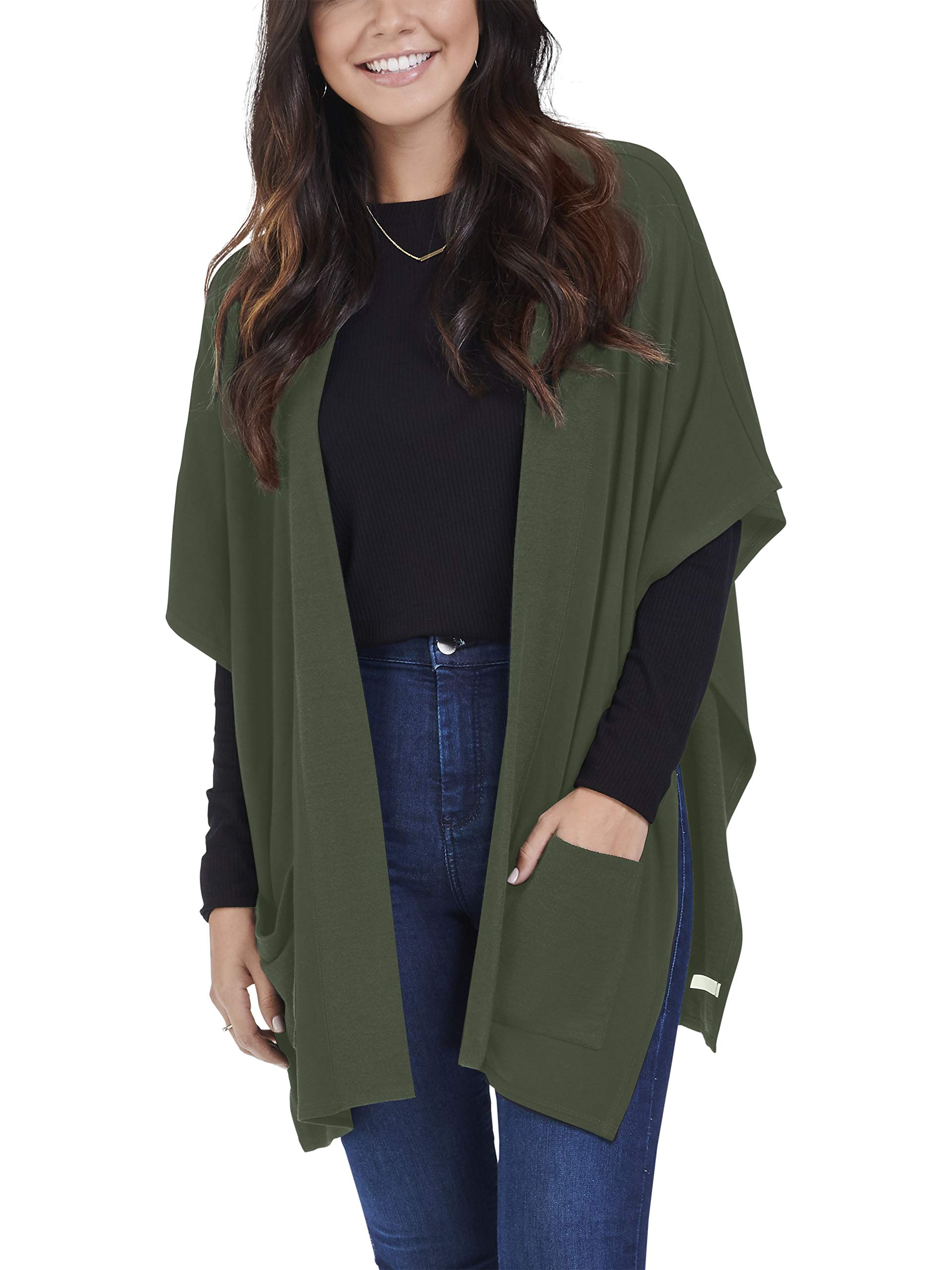 Seek No Further Women's Long Sleeve V-Neck Fleece Blouse