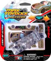 Max Traxxx Award Winning Pirate Light Up Marble Racer Gravity Drive 1:64 Scale Car