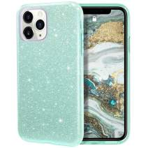MILPROX iPhone 11 Pro Case, Bling Sparkly Glitter Luxury Shiny Spark Shell, Protective 3 Layer Hybrid Anti-Slick Slim Soft Cover for iPhone 11 Pro 5.8 inch (2019) -Green
