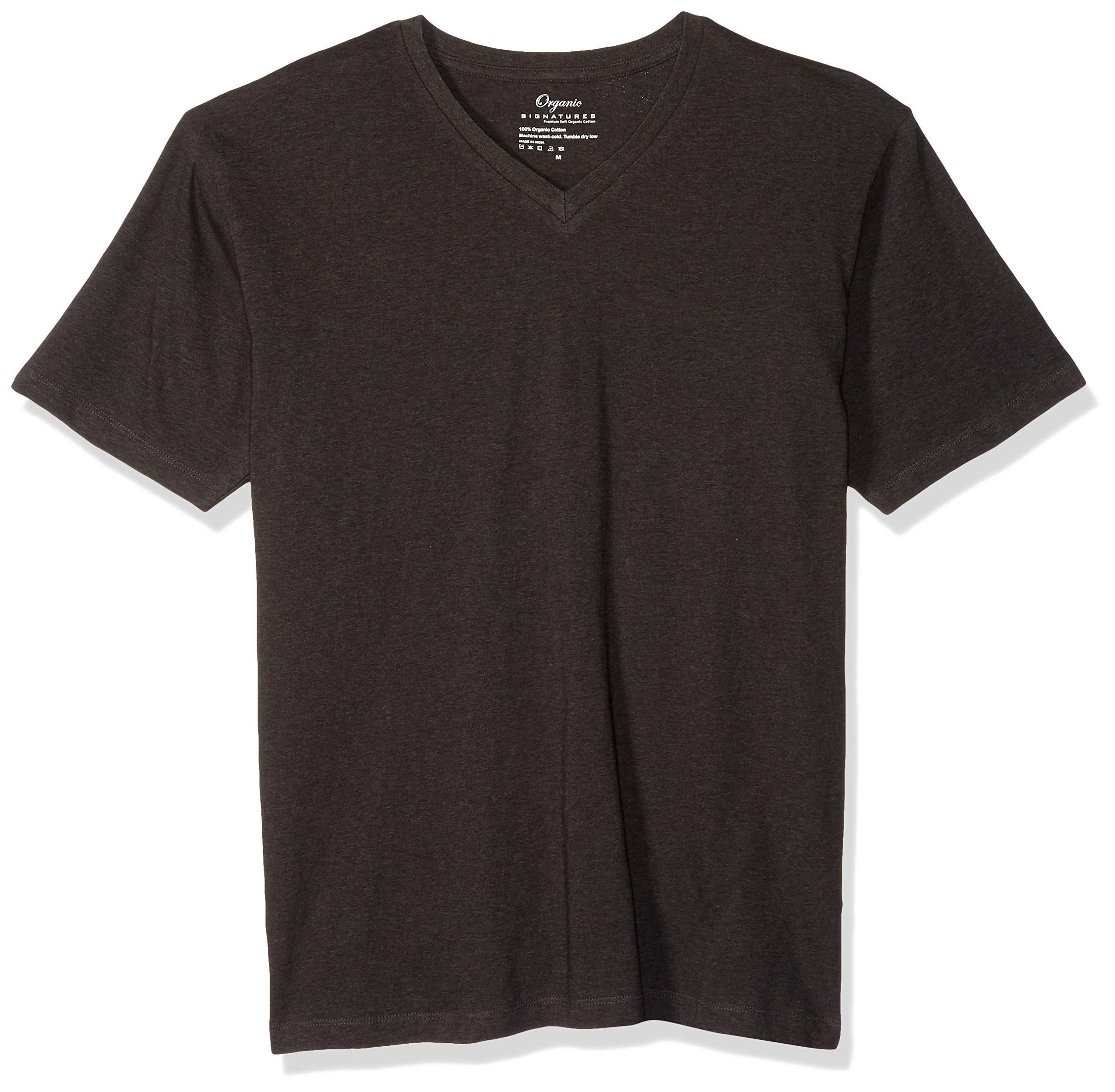 Organic Signatures Men's Short-Sleeve V-Neck Cotton T-Shirt
