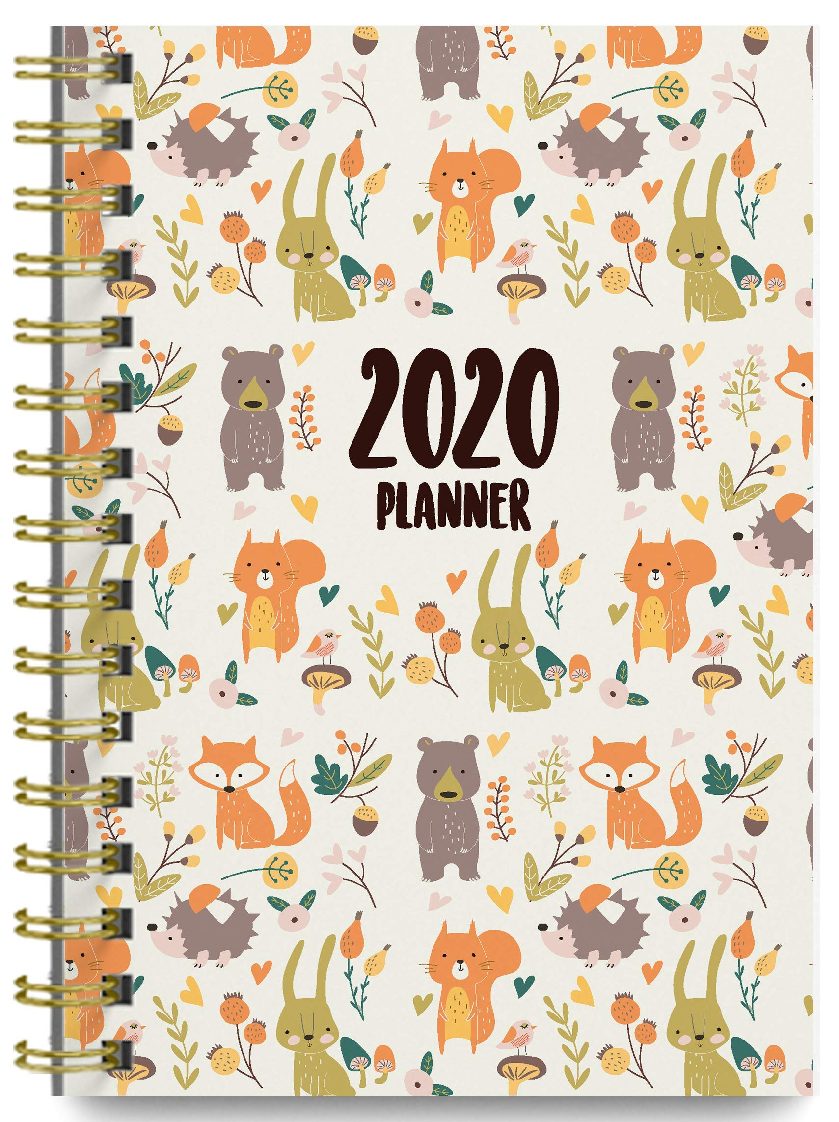 2020 Woodlands Soft Cover Academic Year Day Planner Book by Bright Day, Weekly Monthly Dated Agenda Spiral Bound Organizer, 16 Month Calendar 6.25 x 8.25 Inch,