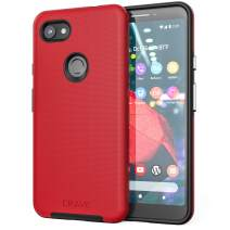 Pixel 3a XL Case, Crave Dual Guard Protection Series Case for Google Pixel 3a XL - Red