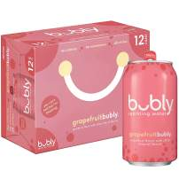 bubly Sparkling Water, Grapefruit, 12 ounce Cans (Pack of 12)