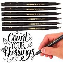 Calligraphy Pen - 6 Pack(4 Size), Brush Pens, Calligraphy Markers, Brush Markers for Lettering Art, Art Marker, Beginnger