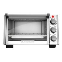 BLACK+DECKER 6-Slice Convection Countertop Toaster Oven, Stainless Steel/Black, TO2050S