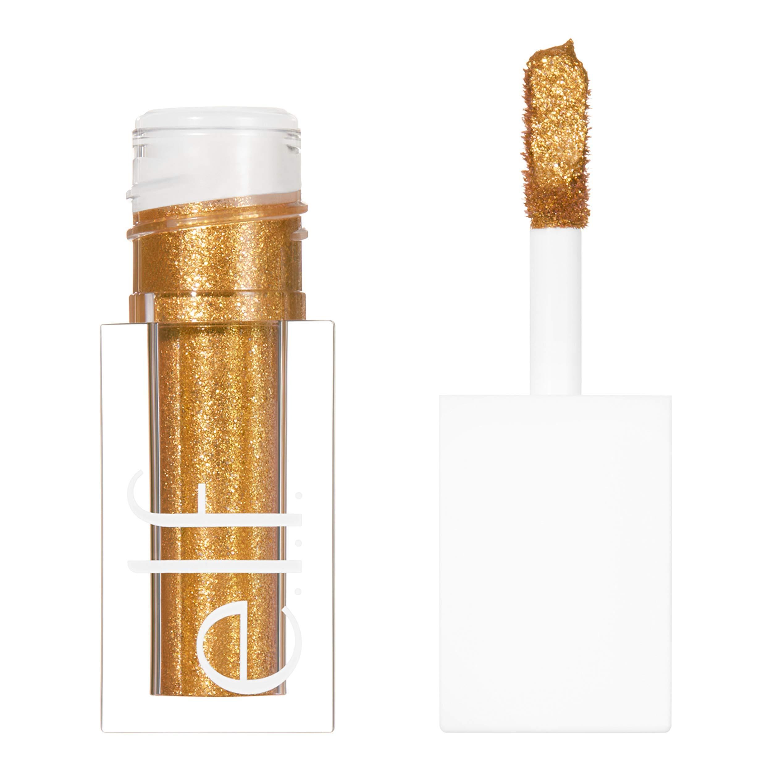 e.l.f. Cosmetics Liquid Glitter Gel Eyeshadow, 24k Gold, 0.10 Fl. Ounce, 24K Gold, 0.10 Fl Ounce