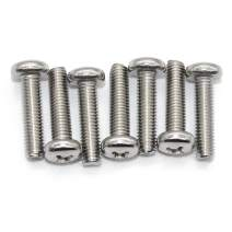 (10 pc) M8-1.25x20 mm Pan Head Phillips Machine Screws,18-8 Stainless Steel by Fullerkregs