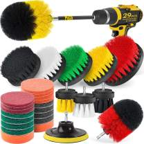 Holikme 29Piece Drill Brush Attachment Set - Drill Brush with Extend Attachment for Bathroom, Car, Grout, Carpet, Floor, Tub, Shower, Tile, Corners, Kitchen