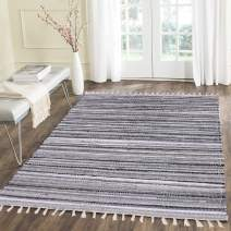 HEBE Cotton Area Rug 4x6 Feet Hand Woven Braided Cotton Rugs/Mats Machine Washable for Bedroom, Kitchen,Living Room,Kids Nursery Room