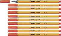 Fineliner - STABILO point 88 Box of 10 Light Red