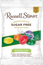 Russell Stover Sugar-Free Assorted Fruit Hard Candies, 3.4 Ounce Peg Bag (Pack of 12)