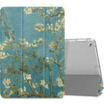 """MoKo Case Fit 2018/2017 iPad 9.7 6th/5th Generation - Slim Lightweight Smart Shell Stand Cover with Translucent Frosted Back Protector Fit iPad 9.7"""" 2018/2017, Almond Blossom(Auto Wake/Sleep)"""