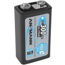 Ansmann 9V 300 mah Rechargeable Batteries