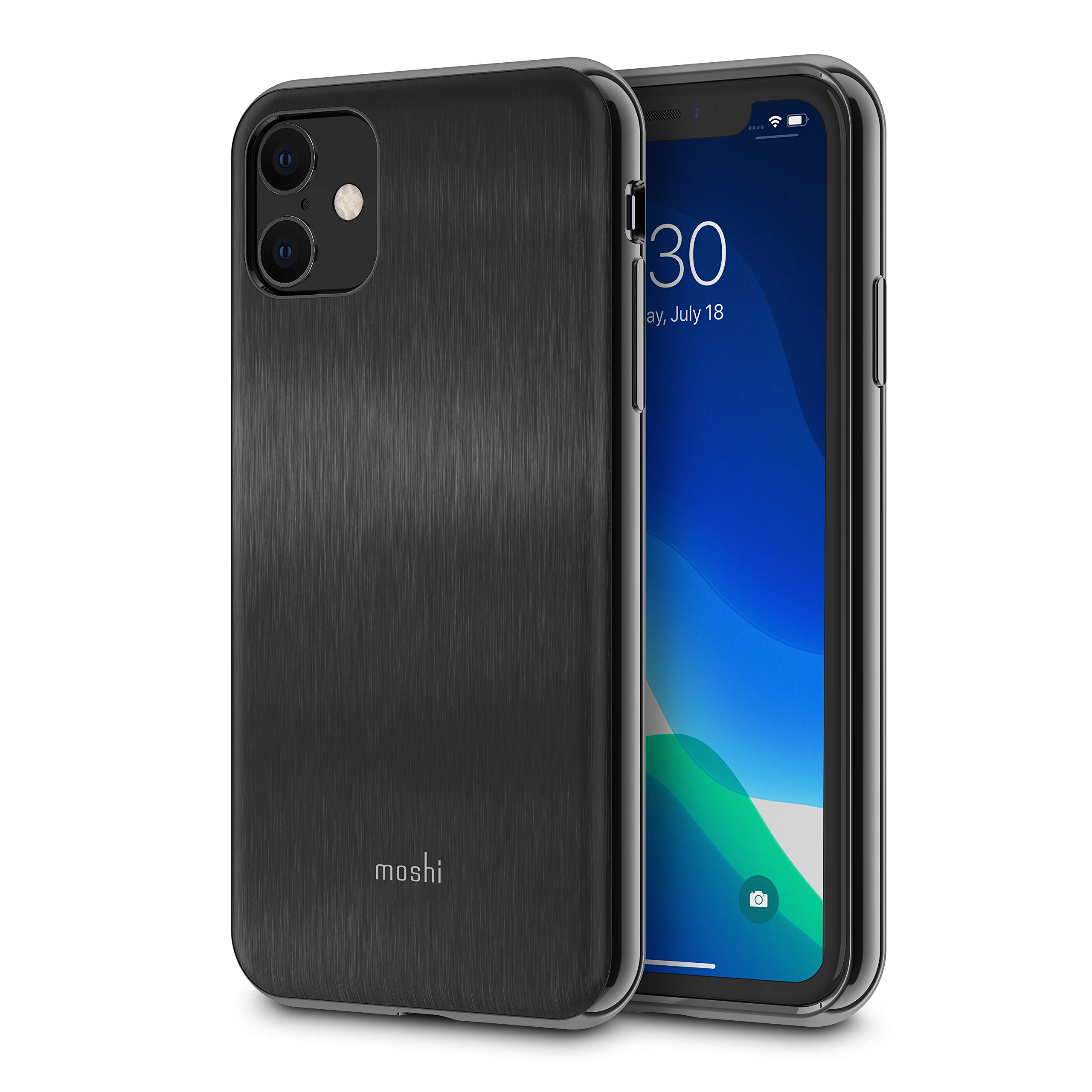 Moshi iGlaze for iPhone 11 Case 6.1-inch, Military Drop Protection, Sleek Phone Cover for iPhone 11, Armour Black