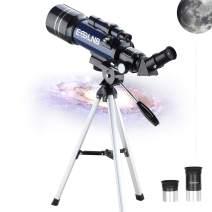 ESSLNB Telescope for Kids with Tripod 70mm Telescopes for Astronomy Beginners Multi-Fully Coated Astronomical Telescopes