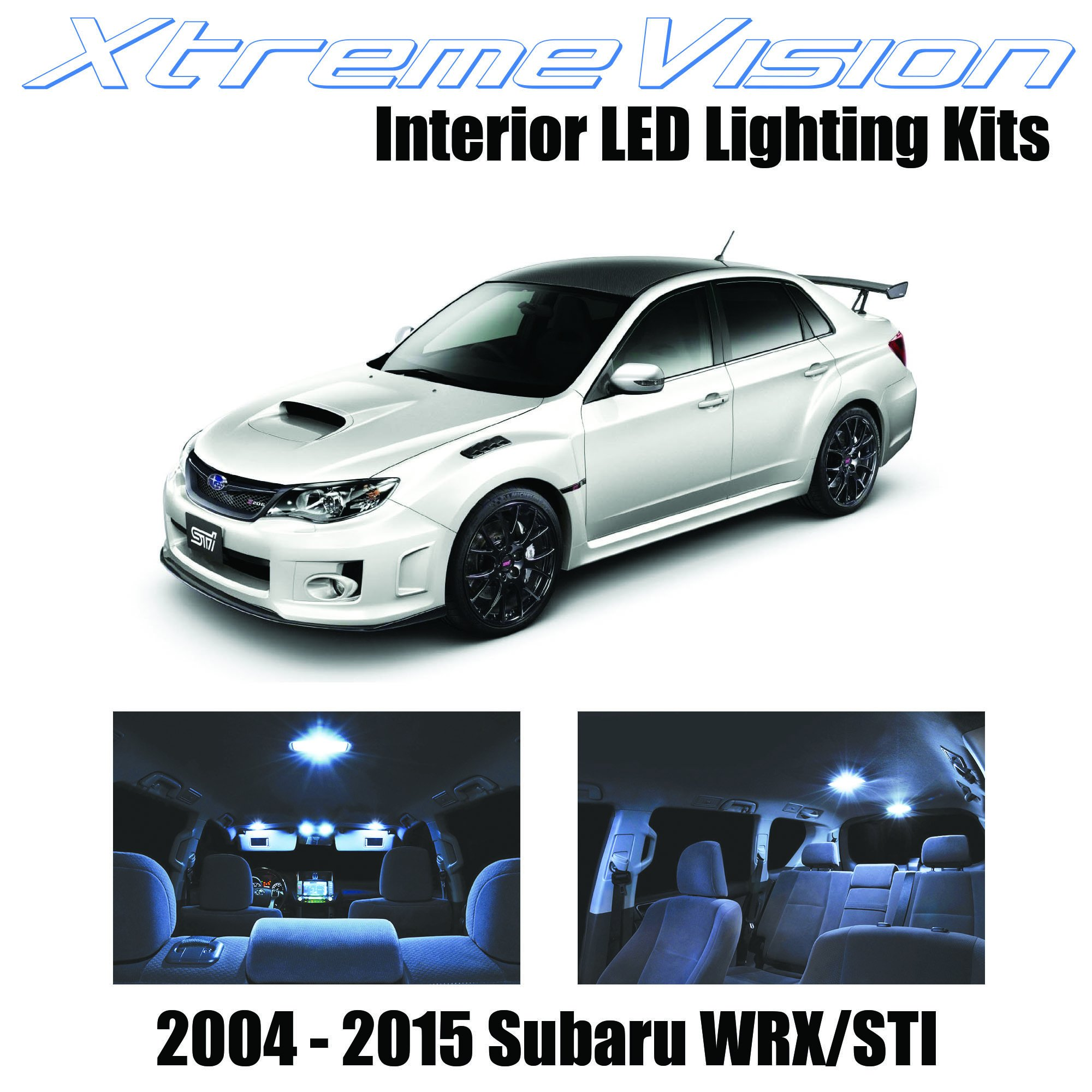 XtremeVision Interior LED for Subaru WRX STI 2004-2015 (6 Pieces) Cool White Interior LED Kit + Installation Tool