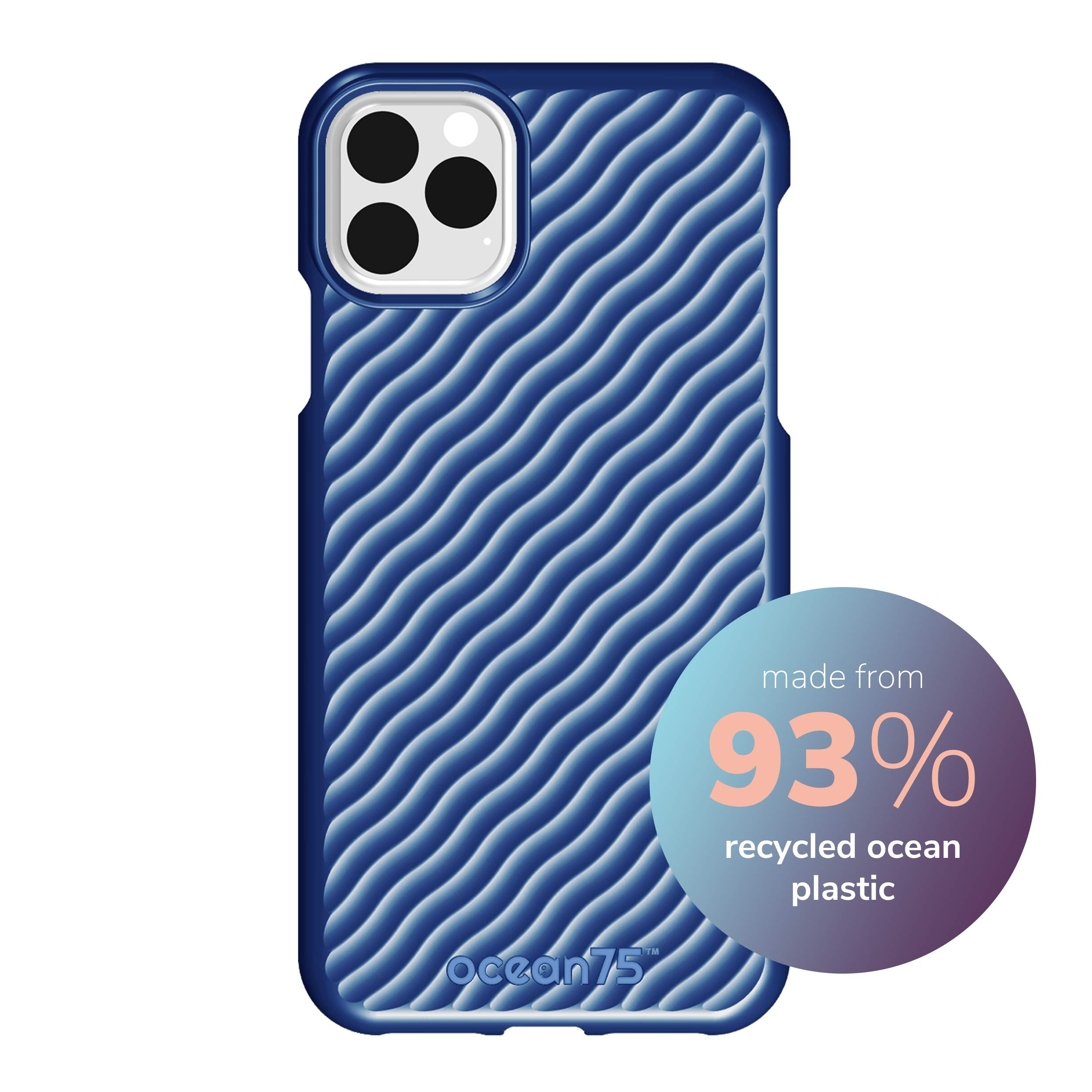 Ocean75 Eco-Friendly Designed for iPhone 11 Pro Max Case, Ocean-Inspired Sustainable Phone Cover Made from Recycled Fishing Nets – Ocean Blue