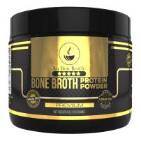 Genuine Grass Fed Organic Bone Broth Protein Powder Collagen 4oz. Premium Flavor 7 Servings, Mixes Instantly, Gluten Free, Pasture Raised, 100% Sourced, Made in USA, NOT from Concentrate (Sample Size)