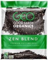 Good Earth Organics, Zen Blend Premium Potting Soil, Organic All Purpose Seed Starter Soil for Leafy Greens, Tomatoes & Other Seedlings, Seeds and Starts (1 Gallon)