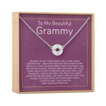 Grandmother Gift Necklace: Presents, Heartfelt Card & Jewelry Gift for Mother's Day, Grandma Gift, Gift For Grandma, Grandma, Grandma To Be, New Grandma, etc