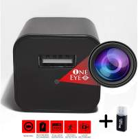SPY Camera Charger USB Hidden CAM - Mini Secret Nanny CAM Recorder 1080p Video ONLY - Discreet Crystal Clear with Motion Detection and Card Reader Included by 1 EYE PRODUCTS