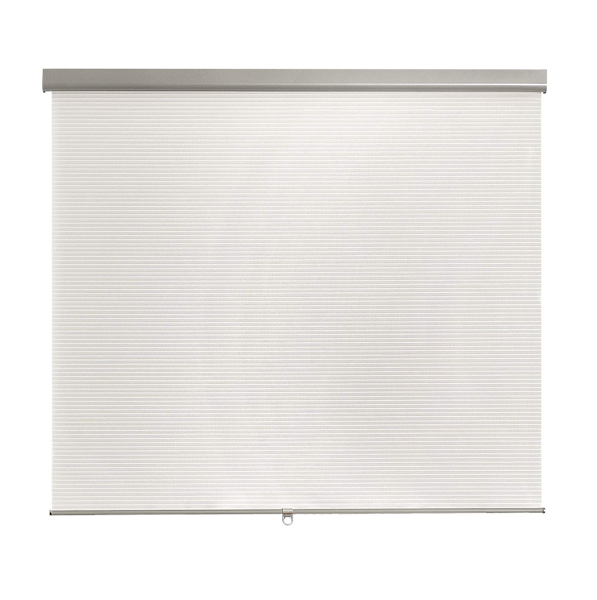 Brielle Pleated Semi Sheer Cordless Roller Shade, 34 x 66, White