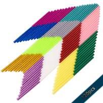 Hot Glue Gun Sticks,120 pcs Colored Glue Sticks,12 Colors,EVA, 0.28inx3.9in,10pcs Per Color,Hot Melt Glue Sticks for Glue Gun,Adhesive Sticks for DIY Art Craft Repair Bonding