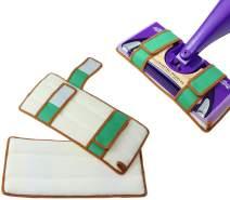 Reusable Mop Pads for Swiffer Wet Jet Refills, Machine Washable Refill Pads for Swiffer Wet Jet Pads, 100% Cotton Terry Cloth Mop Refill for Hardwood Floor, 2-Pack