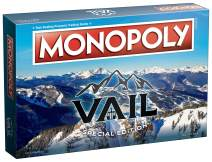 Monopoly Vail Colorado Board Game | Features Iconic Locations and Landmarks from The Alpine Village of Vail Colorado | Custom Alpine Bank Monopoly Money | Themed Monopoly Game