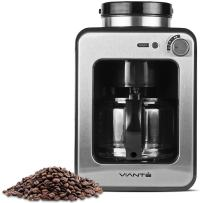 Viante Mini Grind and Brew Coffee Maker with built in Coffee Grinder | Bean to Cup Machine Uses Whole Coffee Beans or Ground Coffee | 4 Cups Glass Carafe | Coffee Strength Selector | Compact Size