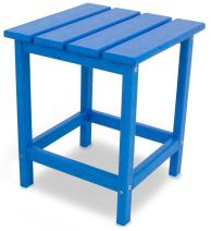 "POLYWOOD ECT18PB Long Island 18"" Side Table, Pacific Blue"