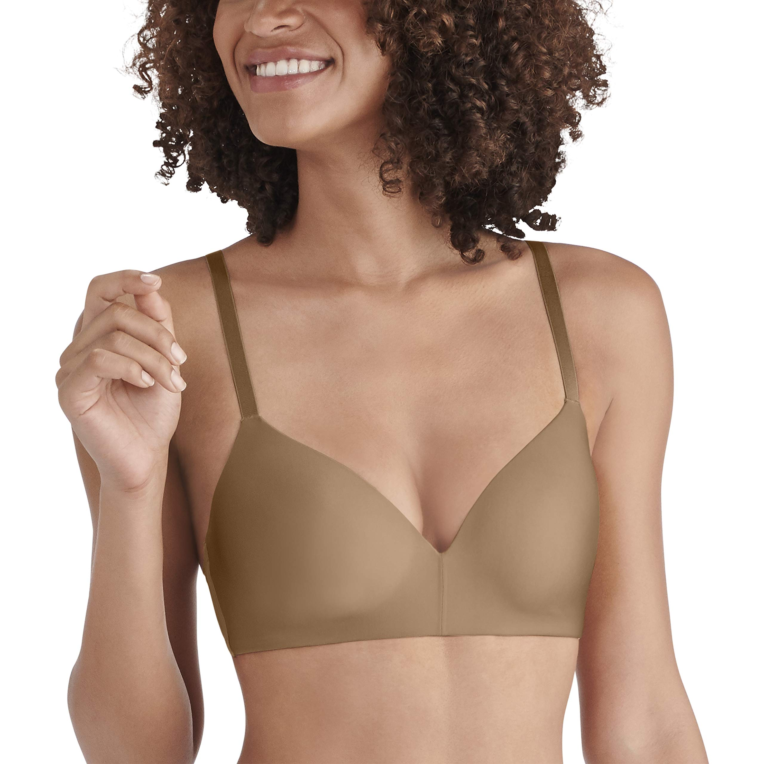 Vanity Fair Women's Nearly Invisible Full Coverage Wirefree Bra 72200