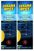 (2 Pack) Cerama Bryte Ceramic Cooktop Cleaning Pads, Total 20 Pads