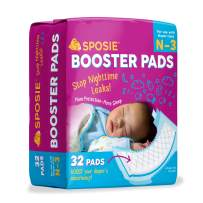Sposie Overnight Baby Diaper Booster Pads/ Doublers for Newborns to Size 3 Diapers  32 Insert-Pads  No Adhesive, Easy Repositioning, Disposable, Nighttime Protection for Infant Boys & Girls