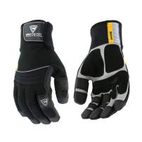 West Chester Pro Series 96653 Yeti Waterproof Winter Work Gloves - [1 Pair] Medium, Safety Gloves with Synthetic Leather, PVC Patch, Spandex Backing