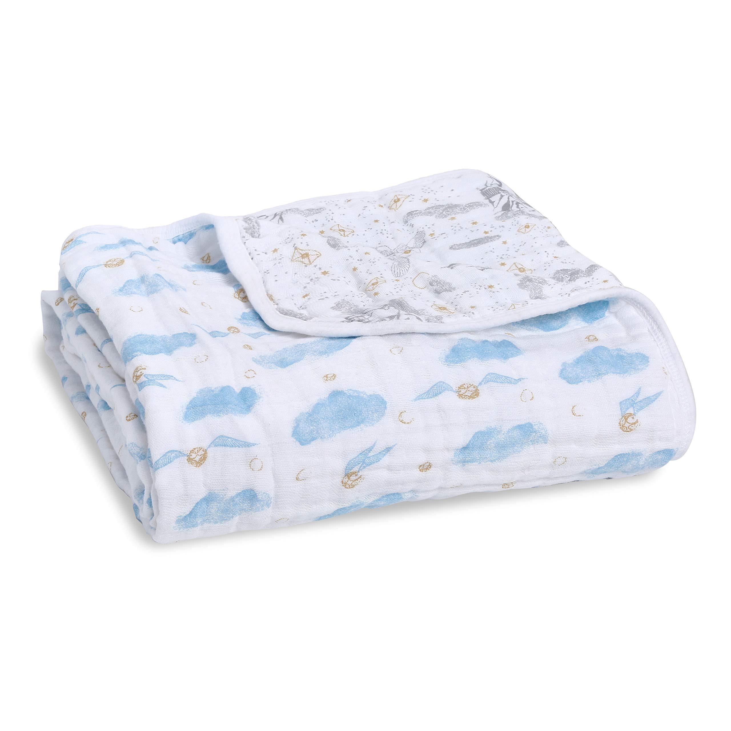 aden + anais Dream Blanket  Boutique Muslin Baby Blankets for Girls & Boys   Ideal Lightweight Newborn Nursery & Crib Blanket, Unisex Toddler Bedding, Shower & Registry Gift, Harry Potter