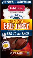 Bridgford Sweet Baby Ray's Original Beef Jerky, High Protein, Zero Trans Fat, Made With 100% American Beef, 10 Oz, Pack of 3