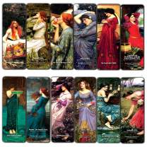 The Women of John William Waterhouse Pre-Raphaelite Art Bookmarks (12-Pack) - Great Gift Token Giveaways Collection Pack Set for Men, Women, Bookworms – Book Reading Rewards – Cool Employee Incentives