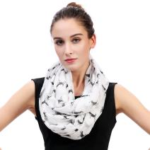 Lina & Lily Sketch of Dogs Print Women's Infinity Scarf Lightweight