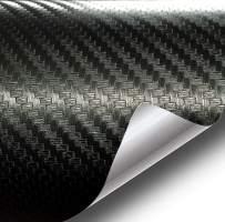 VViViD Deep Black 3D Carbon Fiber Cast Vinyl Decal Car Wrap (6ft x 5ft)