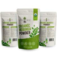 Organic Moringa Oleifera Leaf Powder Help Lower Blood Sugar and Improve Heart Function Natural Vegan Green Superfood Source Of Vitamins , Protein And Calcium-1lb By Organic Wise