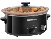 Chefman XL 7 Qt. Slow Cooker, All-Natural, Glaze & Chemical-Free Pot, Stovetop or Oven Cooking, Dishwasher Safe Crock; Naturally Nonstick & Paleo-Friendly, Low-Lead Stoneware, Bonus Recipes Included