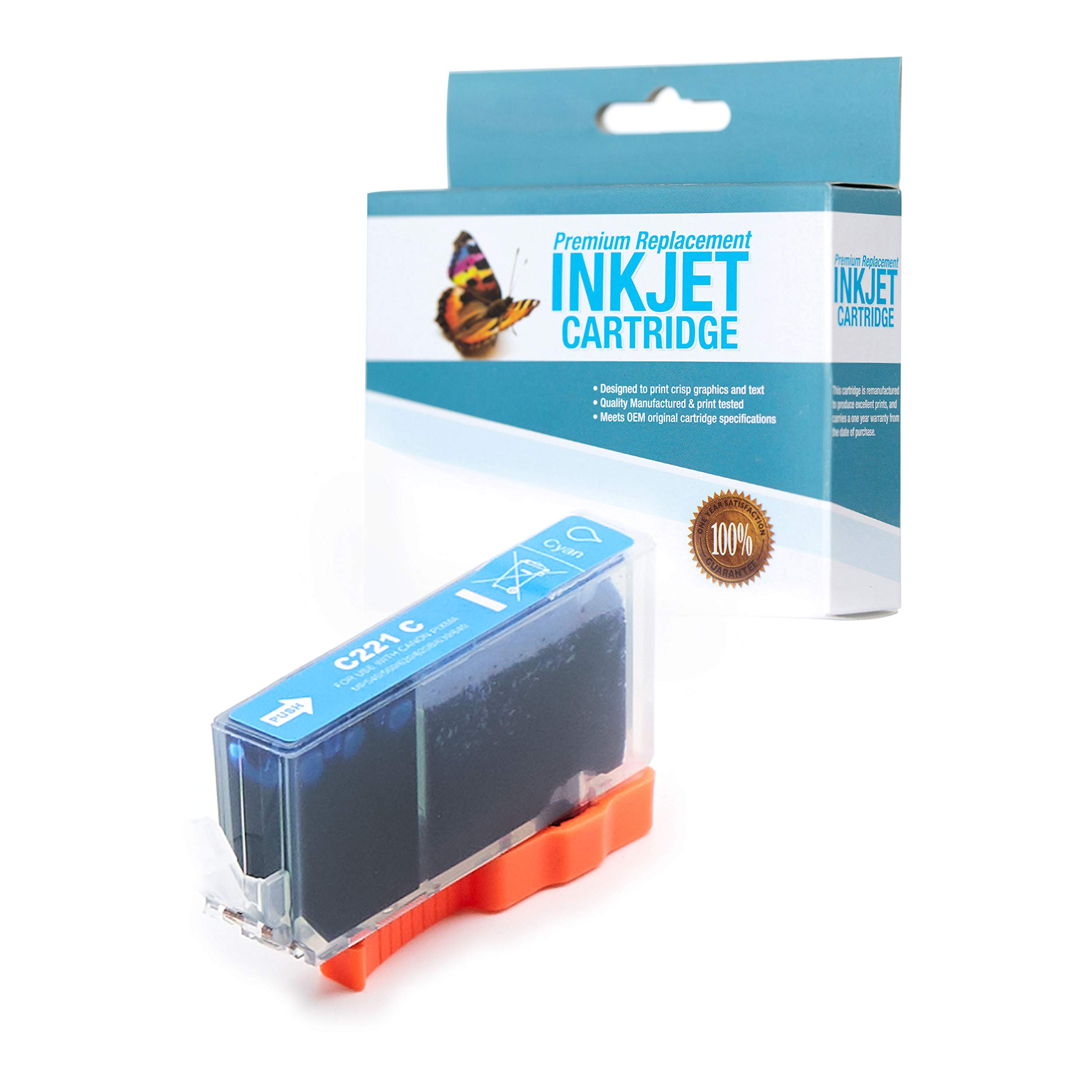 SuppliesOutlet Compatible Ink Cartridge Replacement for Canon CLI-221C / CLI221C / 2947B001 (Cyan,1 Pack)
