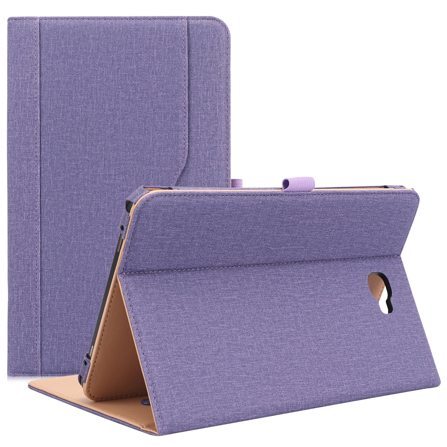 """ProCase Galaxy Tab A 10.1 Case 2016 Old Model, Stand Folio Case Cover for Galaxy Tab A 10.1"""" Tablet SM-T580 T585 T587 (NO S Pen Version) with Multiple Viewing Angles, Card Pocket -Purple"""