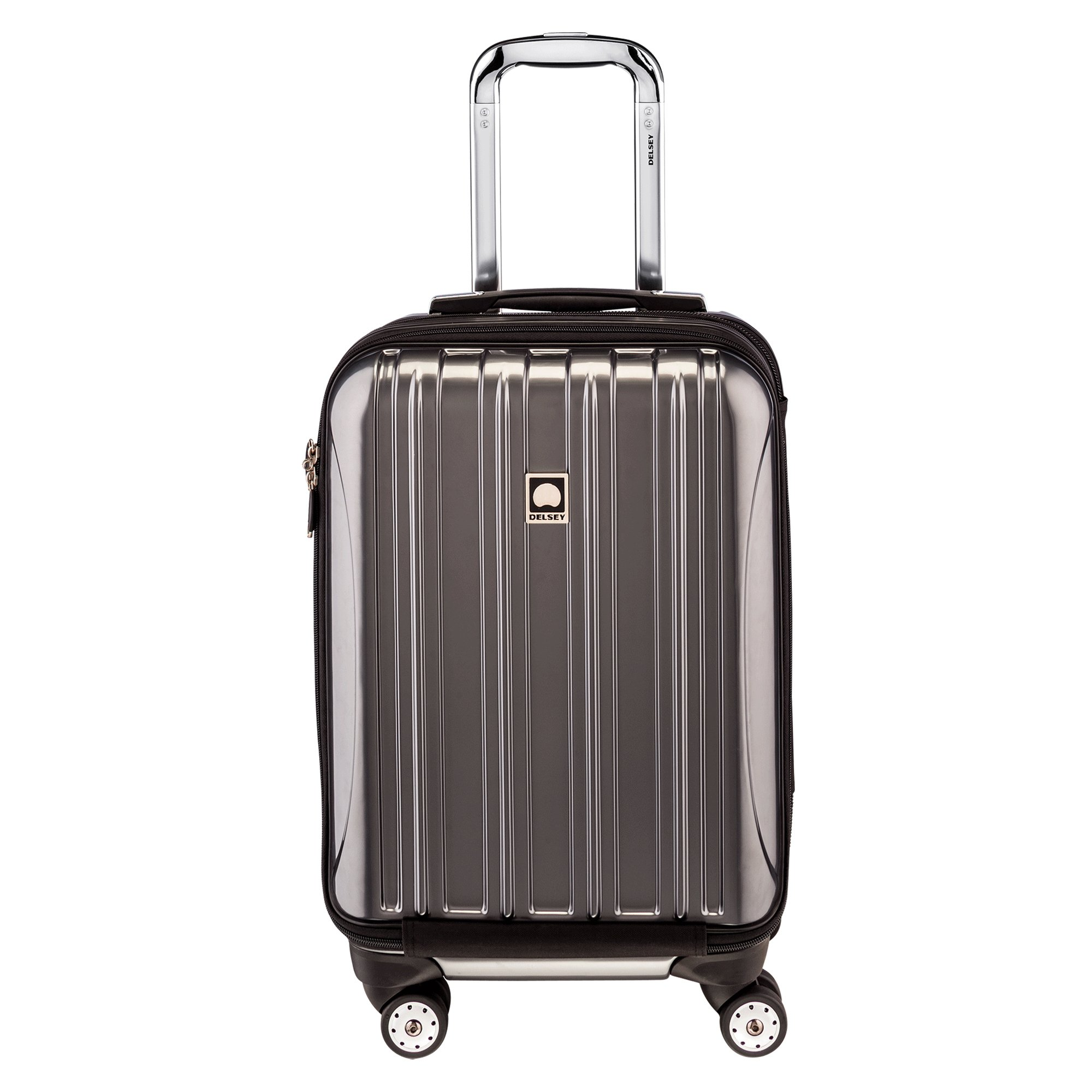 DELSEY Paris Helium Aero Hardside Expandable Luggage with Spinner Wheels, Titanium Silver, Carry-On 19 Inch