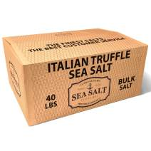 Italian Black Truffle, Bulk Ingredient Salts (40 Pound Box) - Solar-Evaporated Sea Salt with Italian Black Truffles - All-Natural, with No Artificial Additives