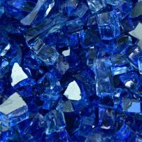 Deep Sea Blue - Fire Glass for Indoor and Outdoor Fire Pits or Fireplaces   10 Pounds   1/4 Inch, Reflective