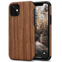 Tasikar Compatible with iPhone 11 Case Easy Grip Wood Grain Design Compatible with iPhone 11 (Redwood)