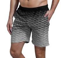 SHEKINI Men's Swim Trunks Short Quick Dry Slim Lightweight Wihtout Mesh Lining