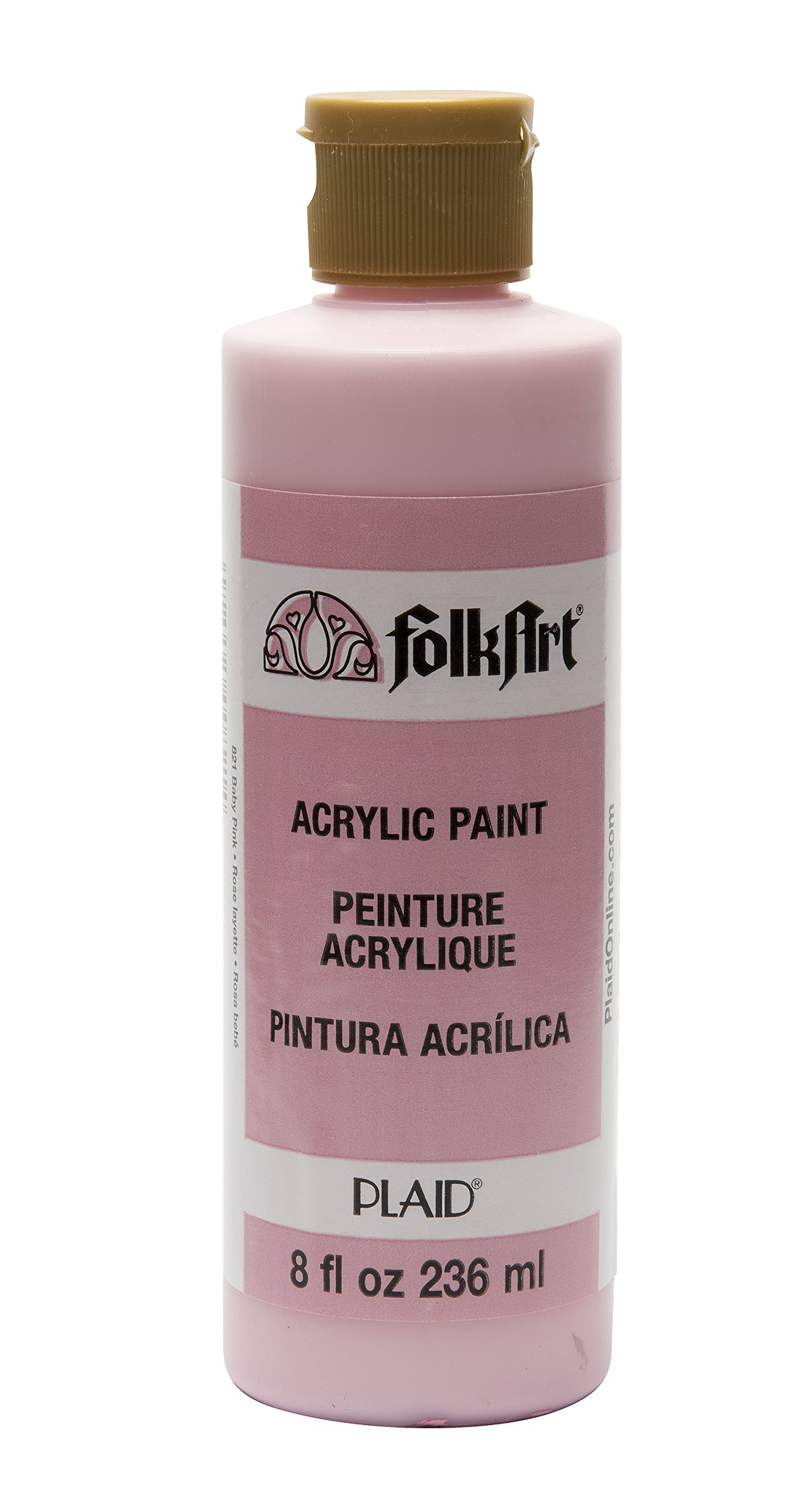FolkArt Acrylic Paint in Assorted Colors (8 oz), , Baby Pink